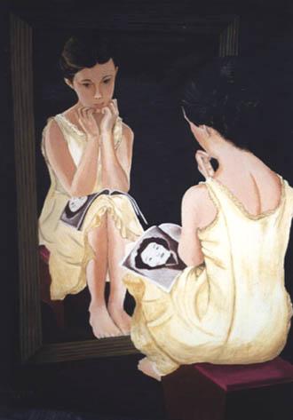 II.- Asomada al espejo, la otra acostumbraba ser una niña de ojos dormidos